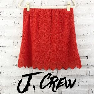 J. Crew Flame Embroidered Lace Skirt